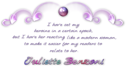 Quotation from Juliette Benzoni.