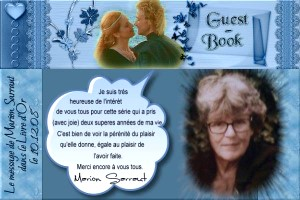 photo with Marion Sarraut - guest book entry
